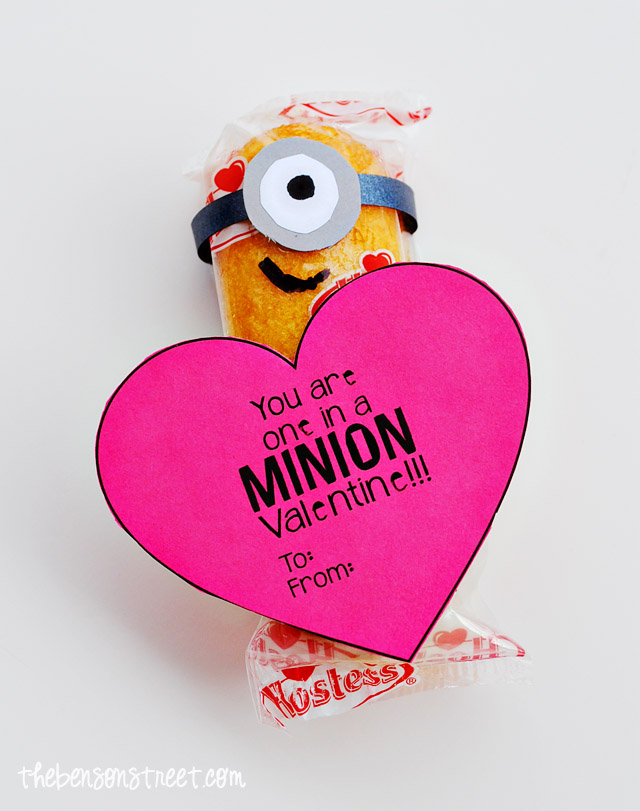 Easy Printable Minion Valentine #MyFavoriteBloggers - The Benson ...