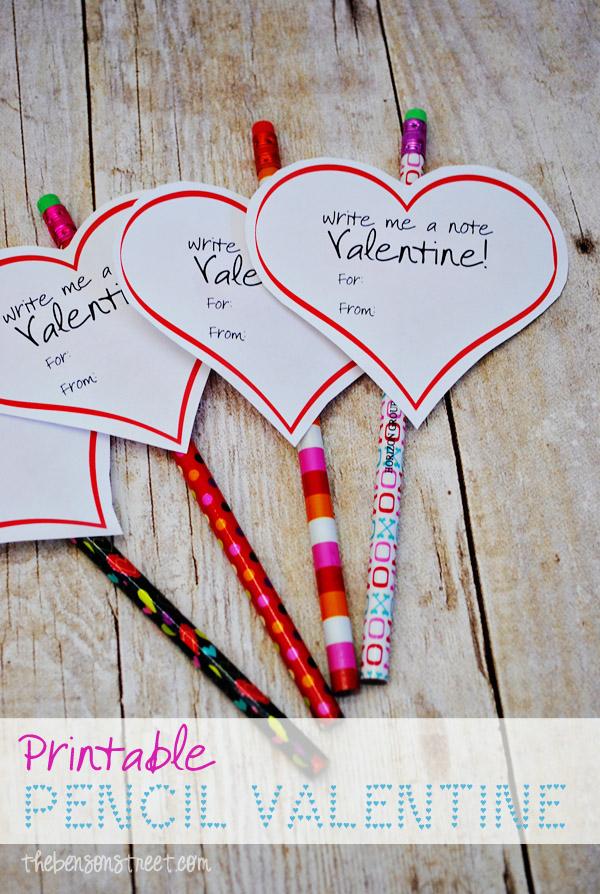Free Printable Valentine For Pencils At Thebensonstreet.com