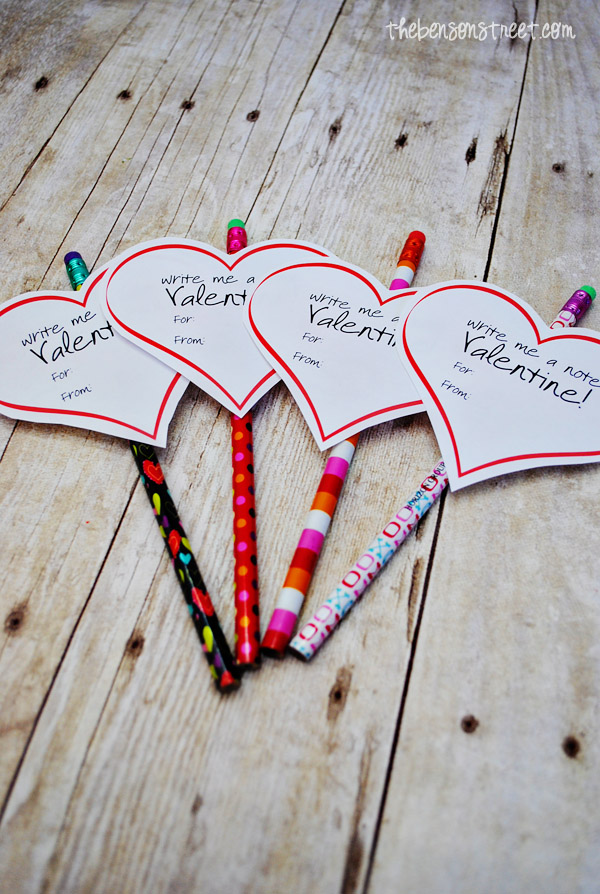 Fun Printable Valentine idea at thebensonstreet.com
