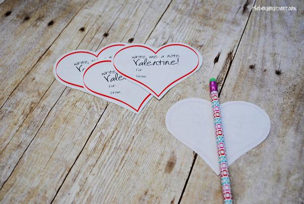 Quick & Easy Printable Valentines at thebensonstreet.com