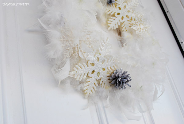 Snowy Wreath at thebensonstreet.com