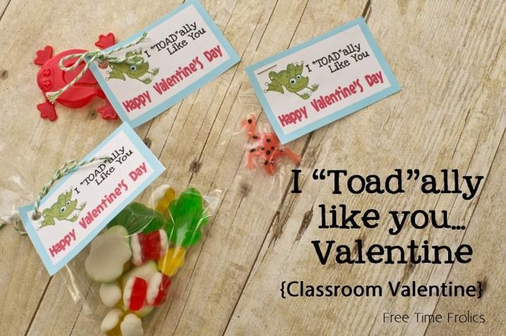 frog classroom valentine printable