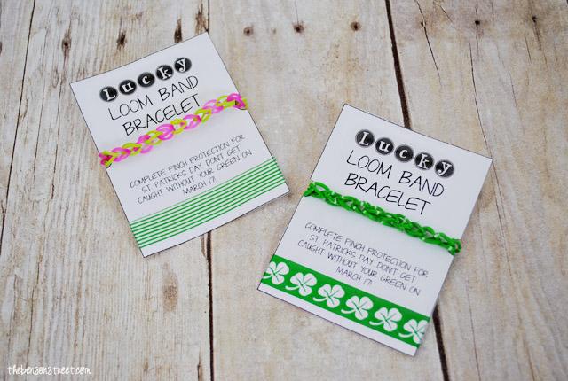 Green St Patricks Loom Band Printable