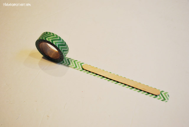 Washi Tape and Popsicle stick craft at thebensonstreet.com