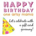 One Artsy Mama 3rd Birthday Giveaway