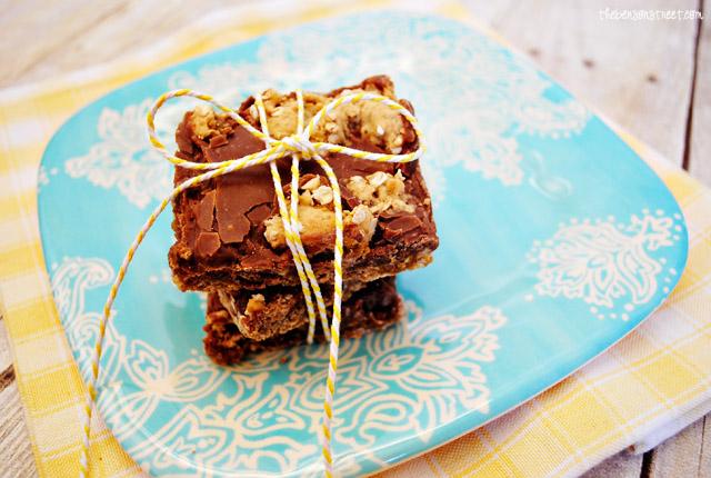 Oatmeal Fudge Bar Cookies at thebensonstreet.com