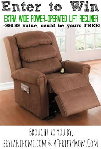 Recliner Giveaway at thebensonstreet.com