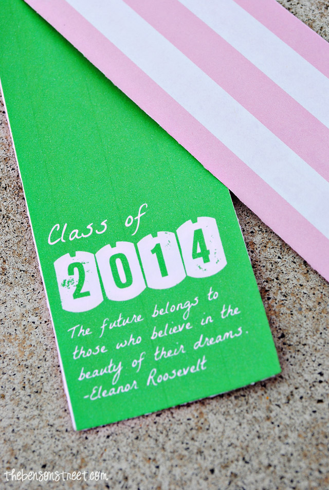 Doublesided Graduation Bookmarks at thebensonstreet.com