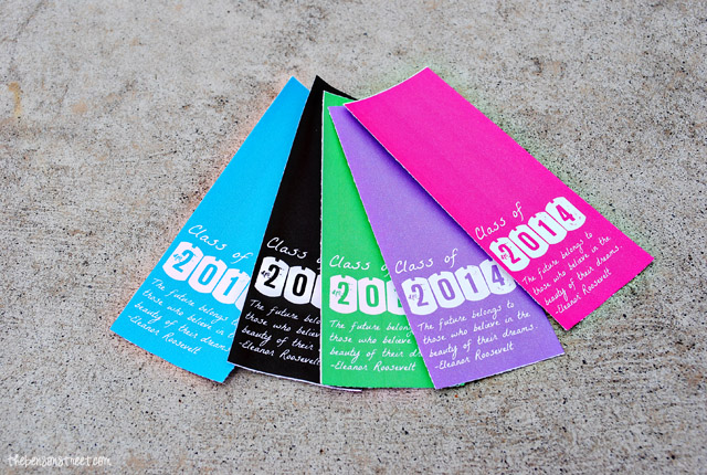 Graduation Class of 2014 Printable Bookmarks at thebensontreet.com