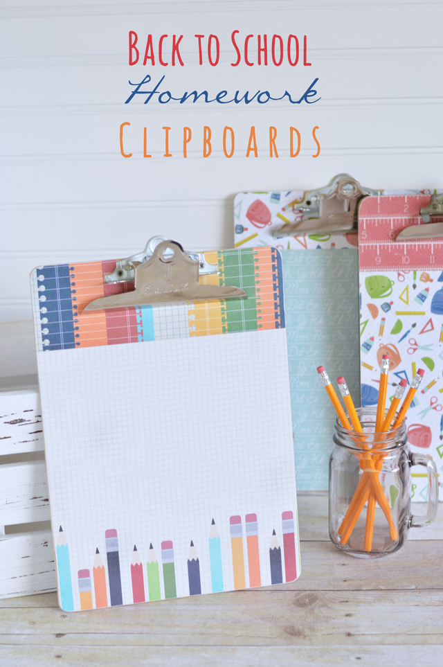Back-to-School-homework-clipboards
