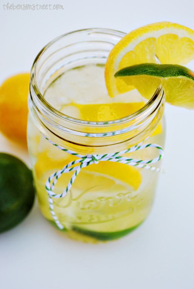 Yummy Lemon Lime Infused Water at thebensonstreet.com