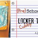 Preschool Locker Cubby Tote: Back to School Series