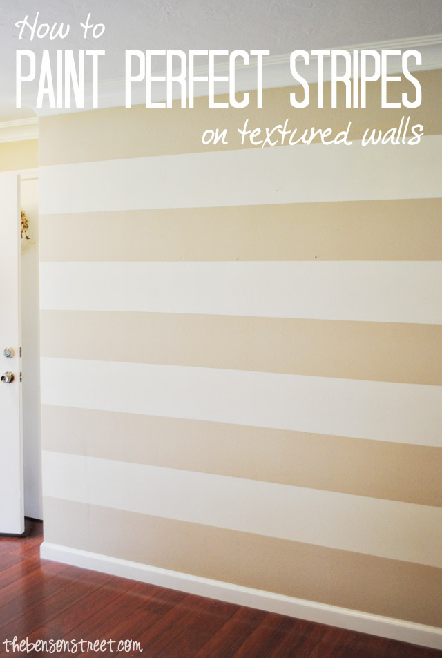 How to Paint Perfect Stripes on a Textured Wall The Benson Street