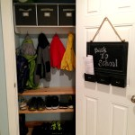 Coat Closet Makeover: Back to School Series