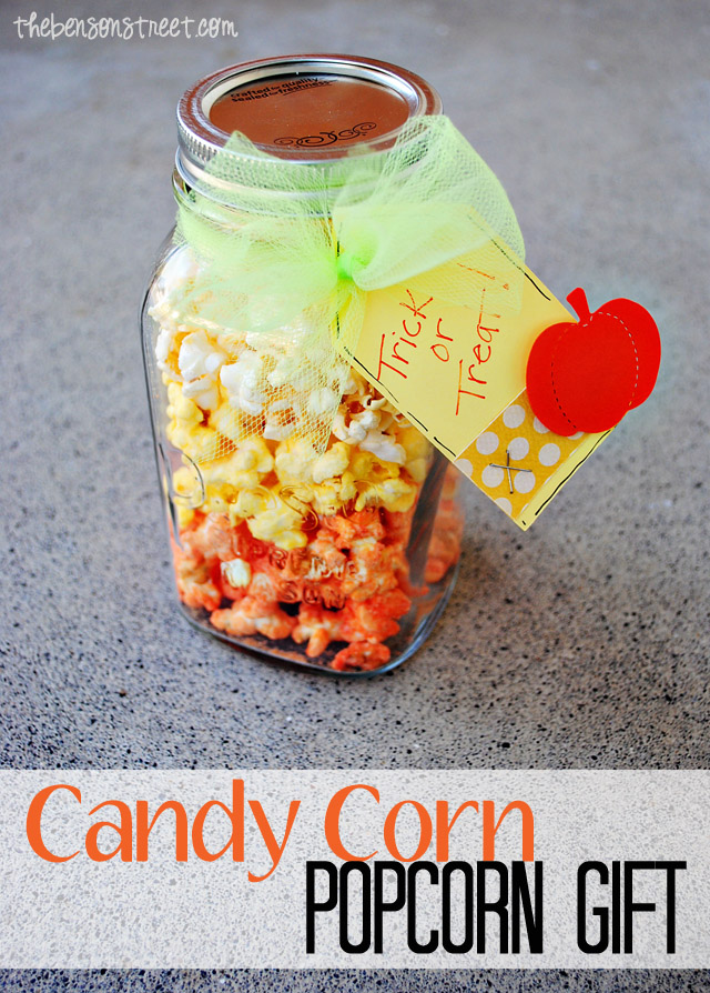 Candy Corn Popcorn Gift at thebensonstreet.com
