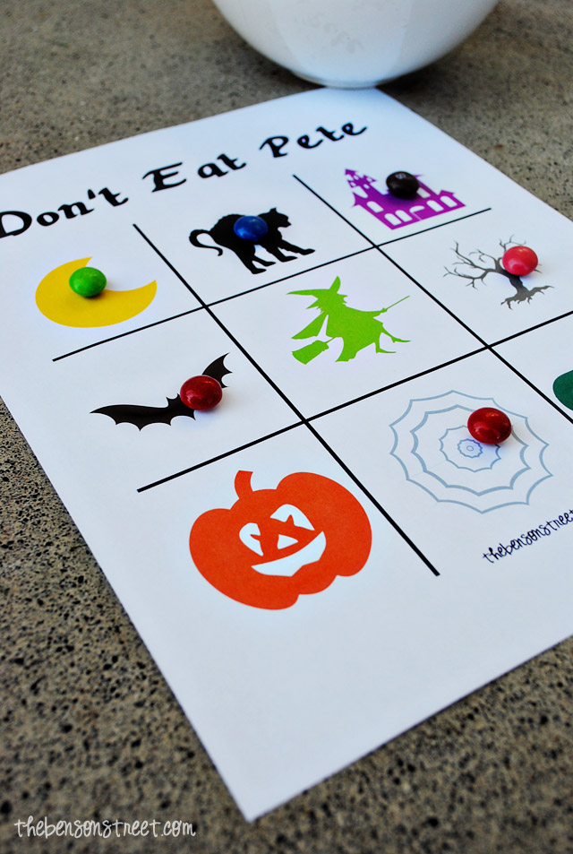 Halloween Don't Eat Pete Printable by thebensonstreet.com