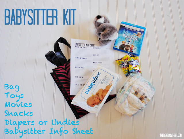 Easy Babysitter Kit at thebensonstreet.com