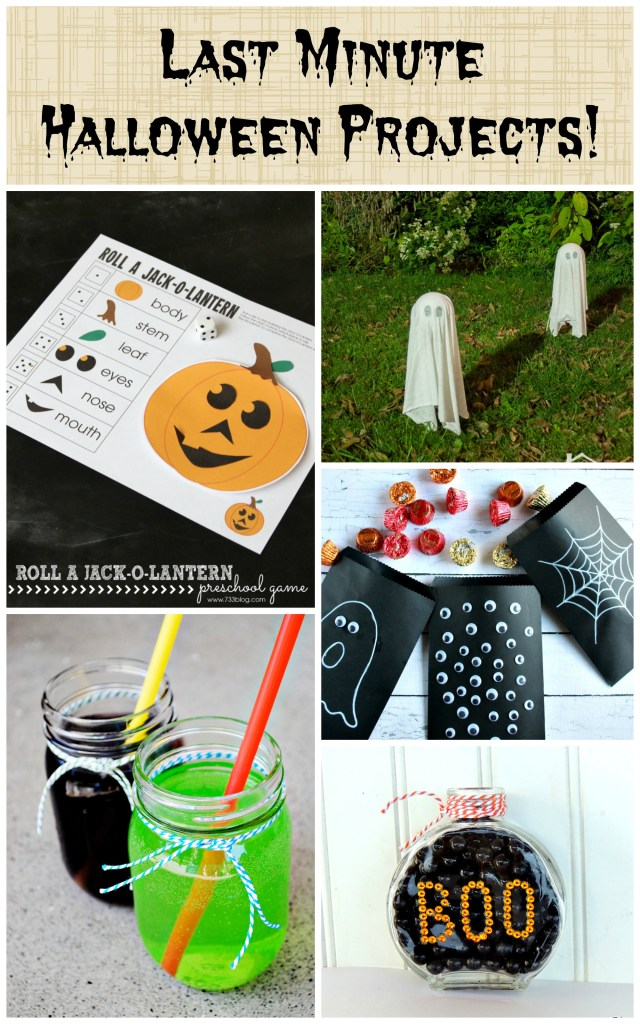 Last Minute Halloween Projects