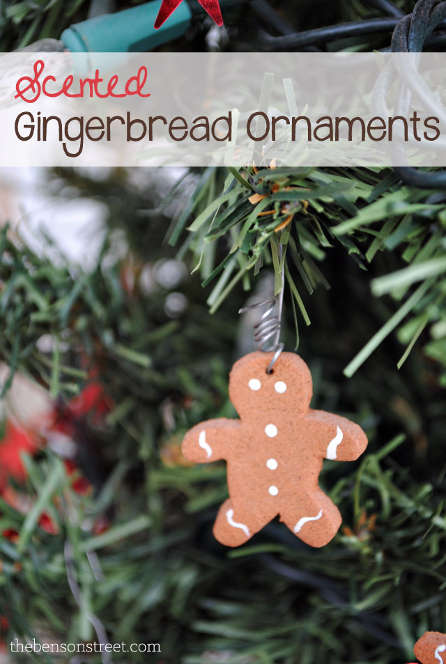 DIY Scented Gingerbread Ornaments at thebensonstreet.com