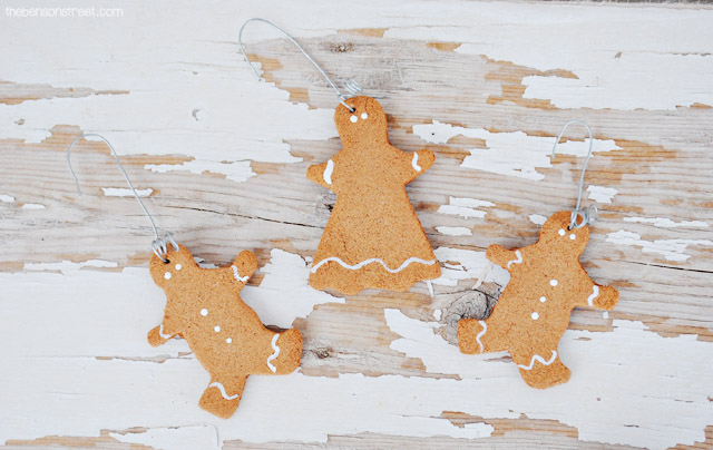 Easy to make Scented Gingerbread Ornaments at thebensonstreet.com