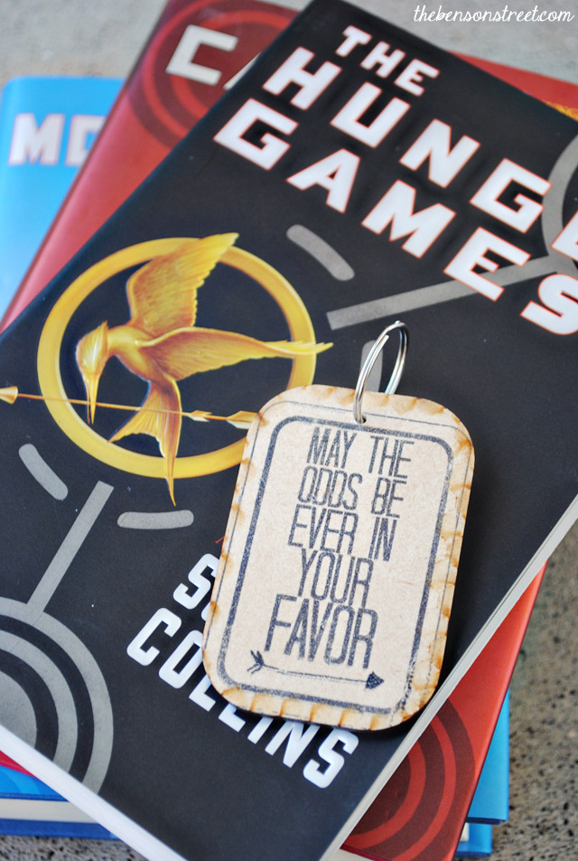 Odds Hunger Games Keychain Tutorial at thebensonstreet.com