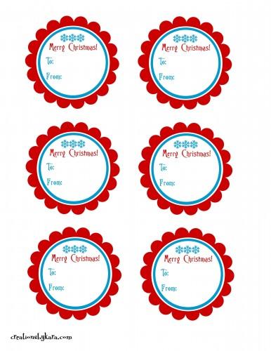 25 Free Printable Christmas Gift Tags - The Benson Street