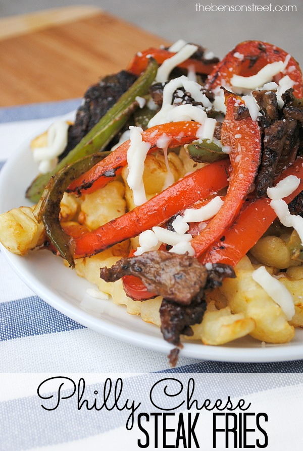 Philly Cheese Steak Fries at thebensonstreet.com