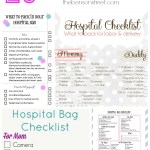 25 Pregnancy Delivery Hospital Bag Checklists