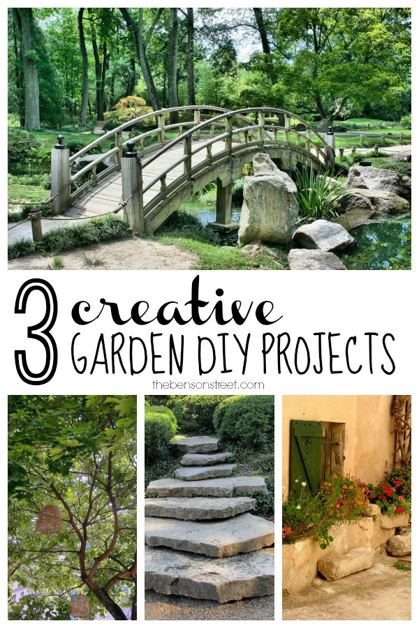 3 Creative Garden DIY Projects at thebensonstreet.com