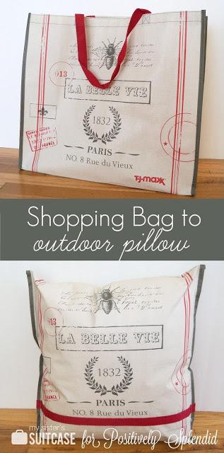 shopping bag to outdoor pillow