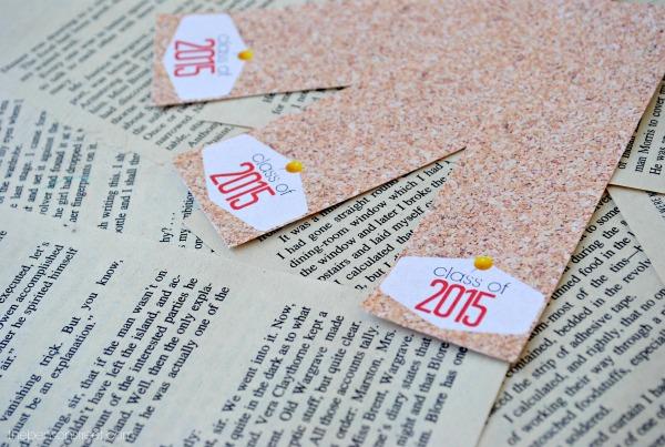 2015 Cork Board Printable Graduation Bookmarks at thebensonstreet.com