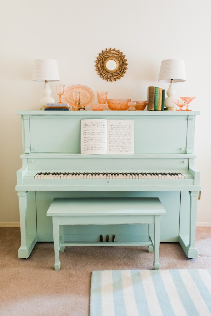 Pastel Piano Makeover