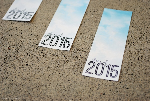 Printable Cloud 2015 Graduation Bookmarks at thebensonstreet.com