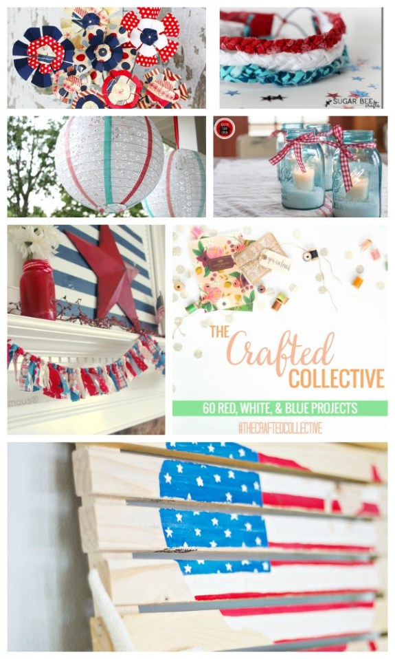 The Crafted Collective 60 Red, White and Blue Projects at thebensonstreet.com