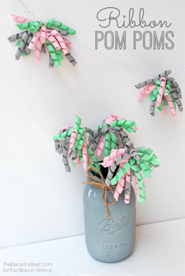 Ribbon Pom Poms t thebensonstreet.com