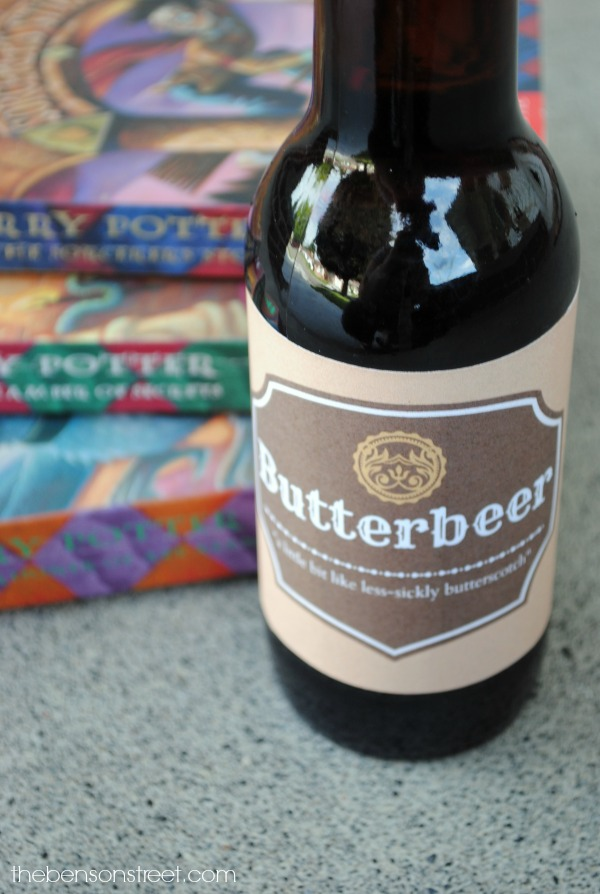 Butterbeer label at thebensonstreet.com