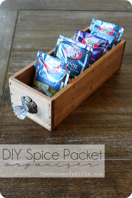 DIY Spice packet organizer - thehouseofsmiths