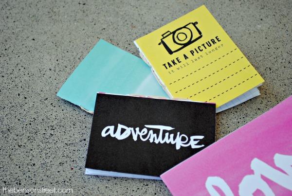 Fun summer craft, hand bound journals at thebensonstreet.com