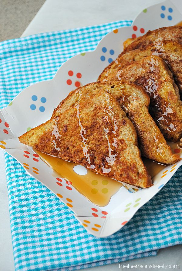 This is a great idea! Snickerdoodle French Toast at thebensonstreet.com