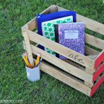Back to School Crate Organization