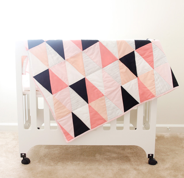 crib triangle blanket