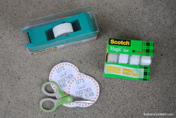 Fun Idea for Teachers using Scotch Tape at thebensonstreet.com