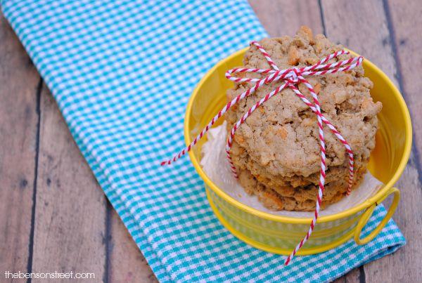 Yummy butterscotch oatmeal cookies at thebensonstreet.com