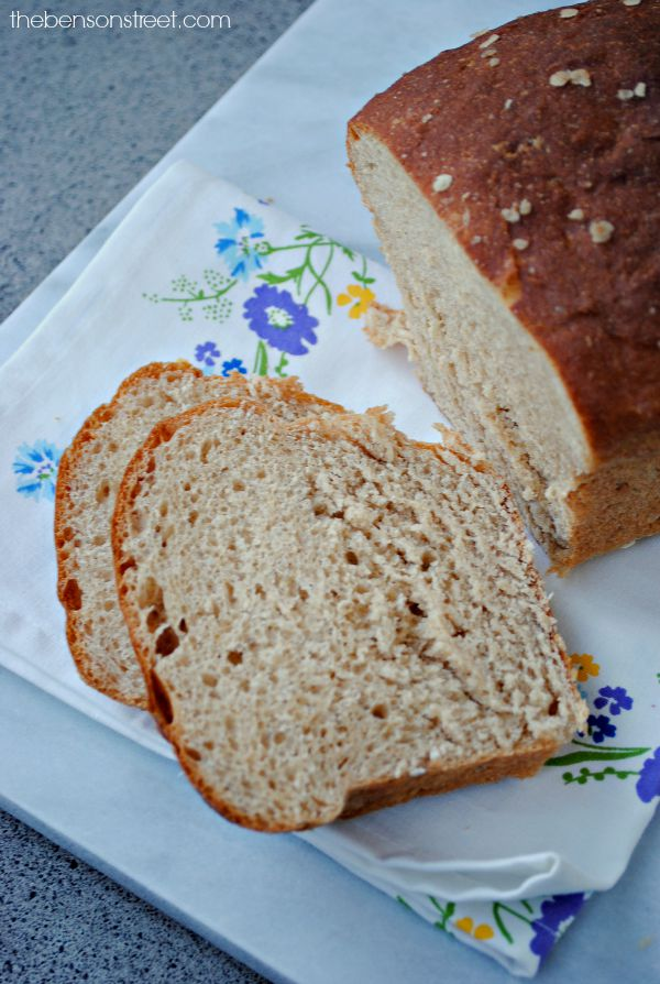 Homemade Whole Wheat Bread! Yummy at thebensonstreet.com
