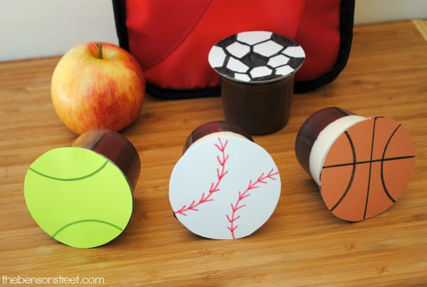 Make packed lunches fun with sports themed pudding packs at thebensonstreet.com