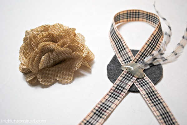 Burlap Flower Napkin Ring at thebensonstreet.com