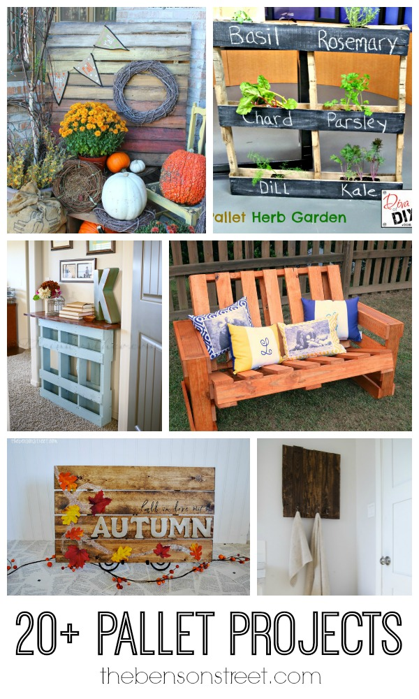 20 plus Pallet Projects at thebensonstreet.com