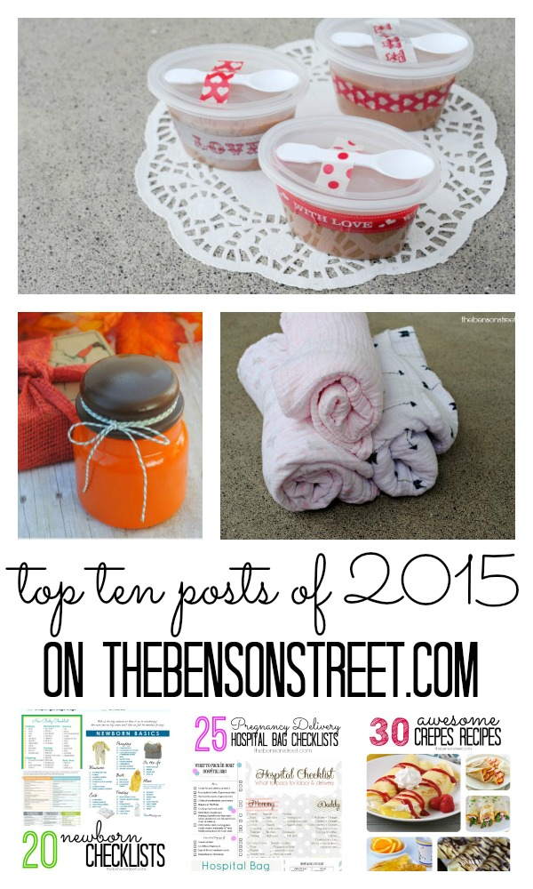 Top Ten Posts of 2015! The Best of thebensonstreet.com lots of great ideas and projects!