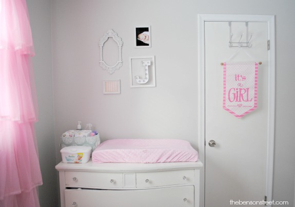 White Changing Table for Nursery at thebensonstreet.com