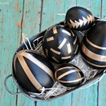 Black and Gold Easter Eggs